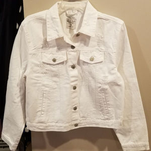 Can't Miss This Love White Denim Jacket - Large